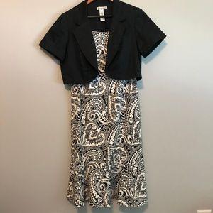 Madison Leigh 2pc Black & White Paisley Sundress